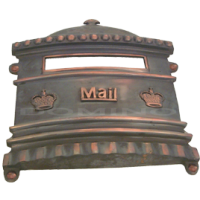 MB 9206 Brass Mailbox Cover