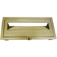 MB 9214 Brass Front Open Letterbox Plate
