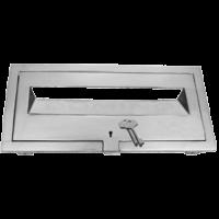 MB 92140 Brass Front Open Plate - Key Lock