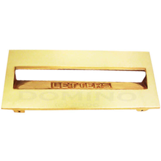MB 9216 Brass Mailbox Front Plate