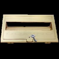 MB 92270 Brass Front Open Plate - Key Lock