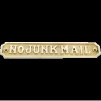 No Junk Mail - Brass Lge