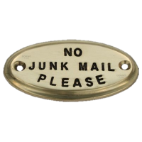 No Junk Mail - Brass Small