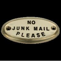 No Junk Mail - Brass Small