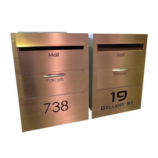 Parcel Bin Copper Letterbox Copper