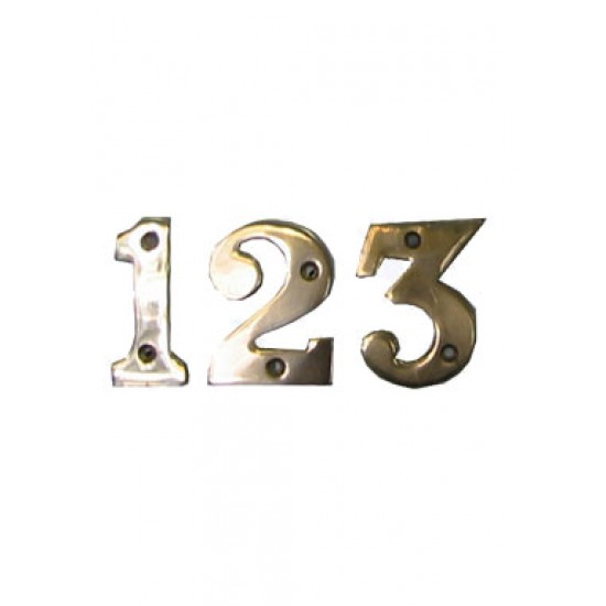 Brass Letterbox Number 50mm