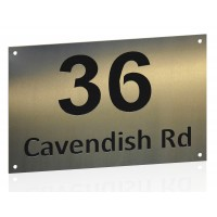 Stainless House Nameplate 300 x 200