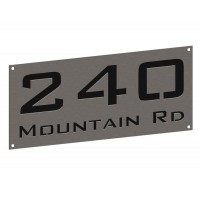 Stainless House Nameplate 300 x 140
