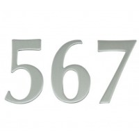 65mm Stainless Self Adhesive Number