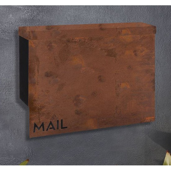 Casa Letterbox Rust On Wall or Fence