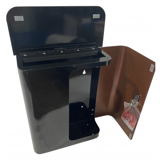 Sylvan Wall Mount Mailbox Rust/Black On Wall or Fence