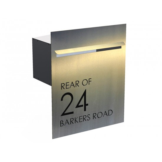 Barkers Rd Stainless Letterbox Stainless Steel