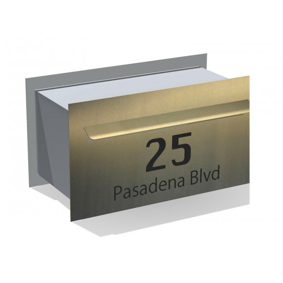 Pasadena Block Letterbox Stainless Steel