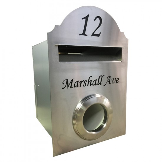 Hampton Rd w/Paper Holder Stainless Letterbox Stainless Steel
