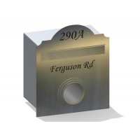 Hampton Rd w/Paper Holder Stainless Letterbox