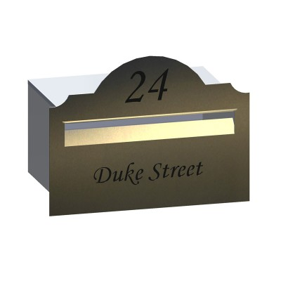 Hampton Rd Stainless Letterbox
