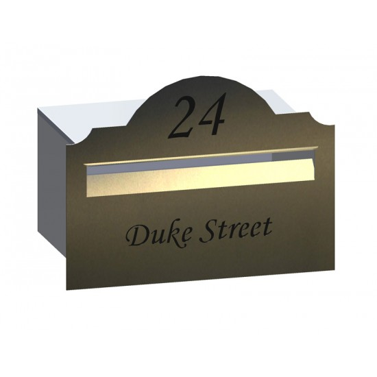 Hampton Rd Stainless Letterbox Stainless Steel
