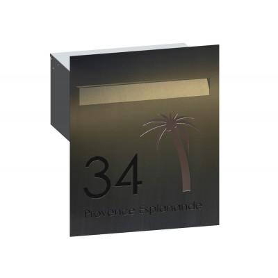 Tropicana Stainless Letterbox