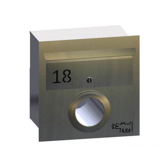 A4 Stainless Mailbox FO/PH